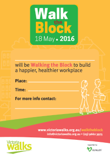 Walk the Block poster 2016